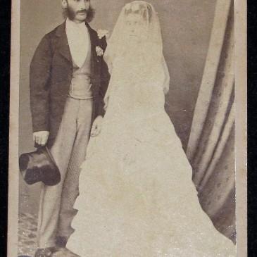 Thomas and Elizabeth Nevin wedding, Hobart July 1871
