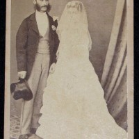 Thomas & Elizabeth Nevin's Wedding Photograph 1871