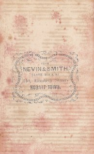 Nevin & Smith verso full length carte of Elizabeth Day