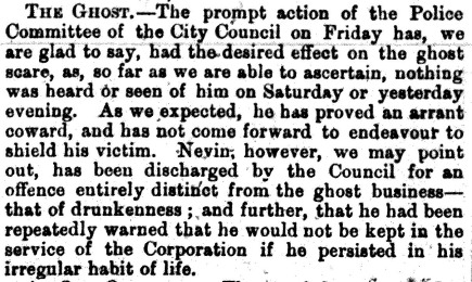 Nevin and the dismissal 1880
