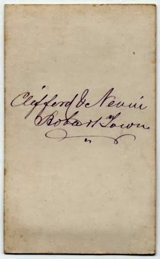 Clifford & Nevin verso 1874 McCullagh Collection