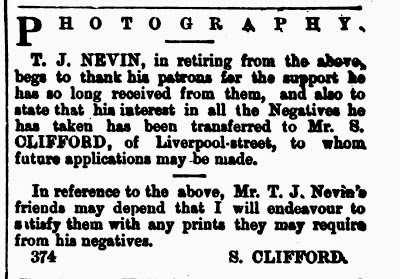 Sam Clifford and Thomas Nevin, Mercury 17 Jan 1876