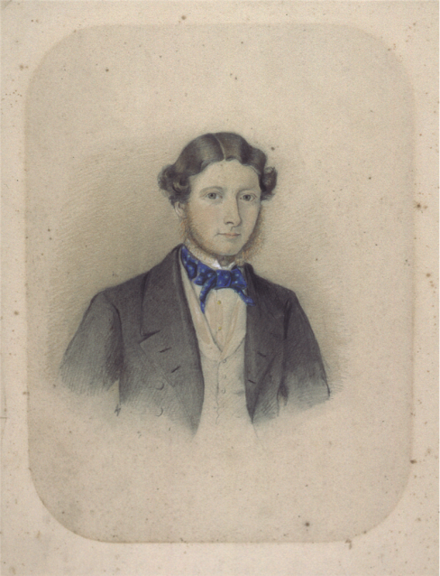Watercolour attributed to Alfred Bock