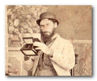 detail Thomas Nevin self portrait 1860s