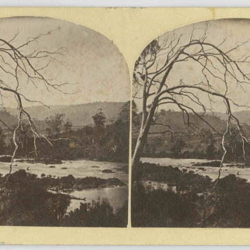River Derwent, stereograph by Thomas J, Nevin 1860s