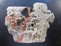 Chinese soapstone vase or brush washer 1800s
