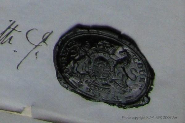 Hobart Supreme Court seal 1880s