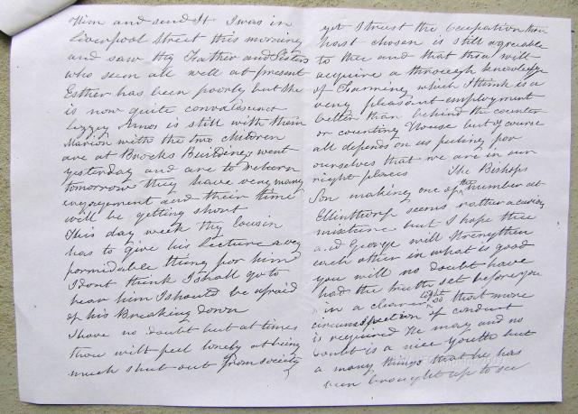 Mrs Mather, letter 1865