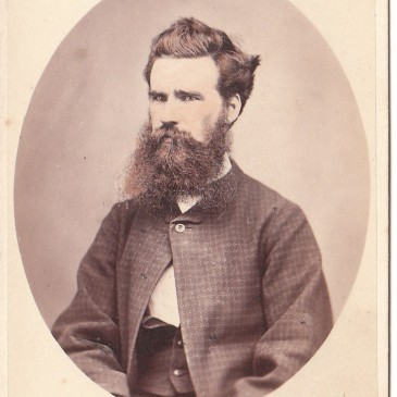 Nevin & Smith, Hobart 1868, cdv of young man in check jacket
