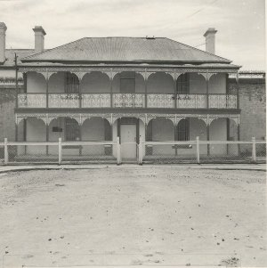 Hobart Gaol governors house facing Melville St
