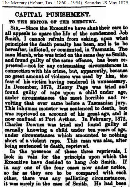 Capital Punishment 29 May 1875