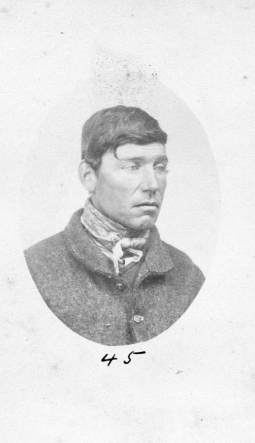 Thomas Fleming cdv prisoner mugshot