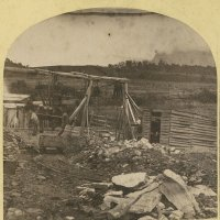 Nevin's coal mine stereograph for Messrs Sims and Stops