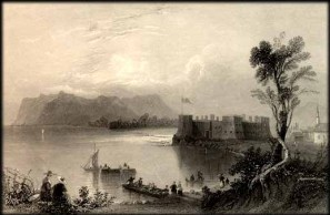 Fort Chambly Estampe, William Henry Bartlett, vers 1840.