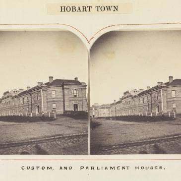 Parliament and Customs House Hobart Tasmania 1862