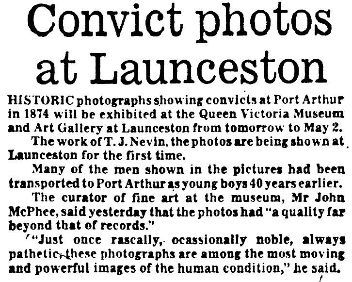 The QVMAG convict  photos exhibition1977 (6/6)