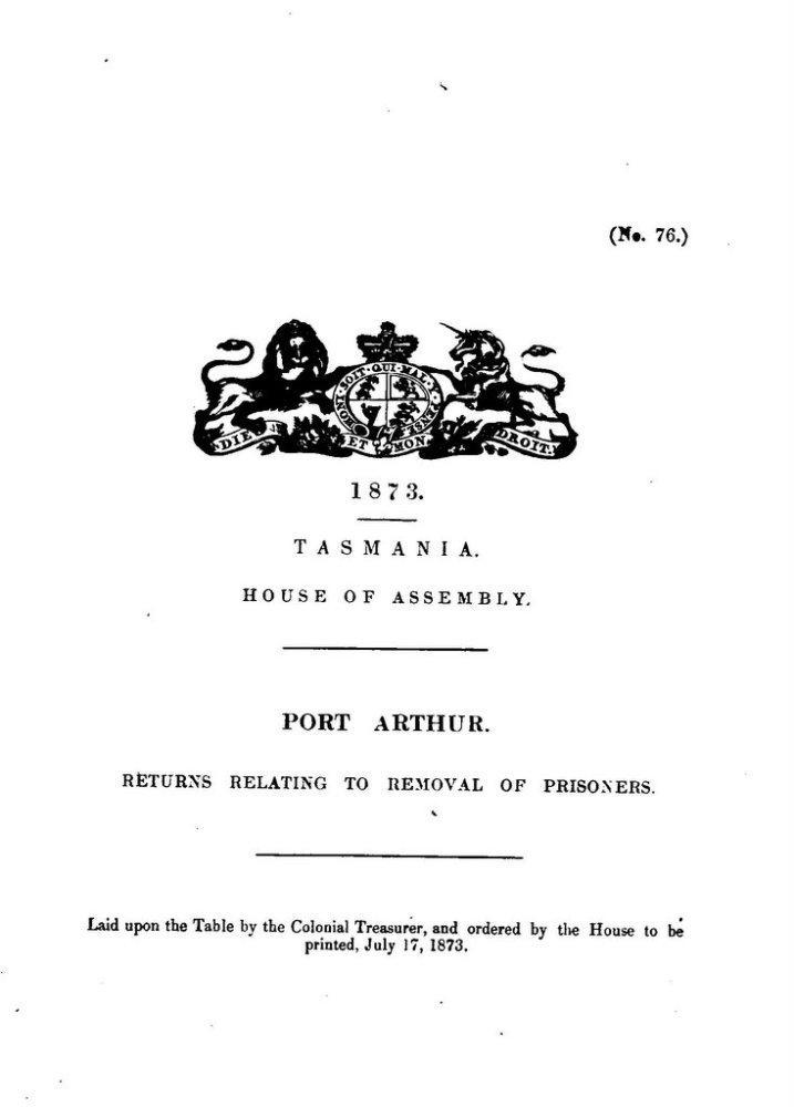 Tasmanian crime statistics 1866-1875 (4/6)