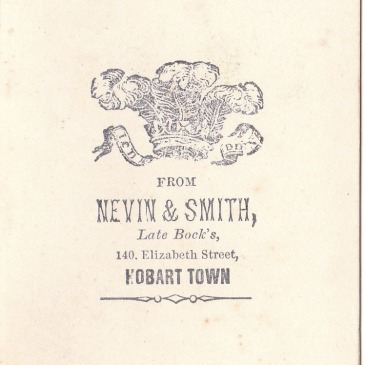 Nevin & Smith stamp 1868