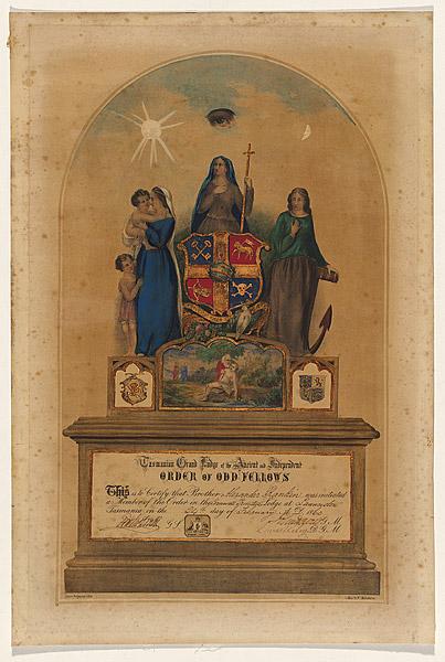 Odd Fellows certificate 1860