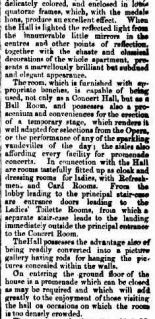 Del Sarte music hall opening 1860