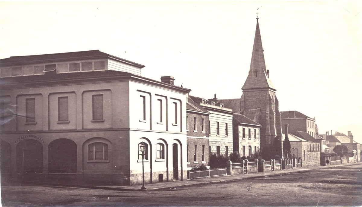 The Odd Fellows' Hall photograph 1871