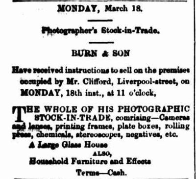 Samuel Clifford auction March 1878