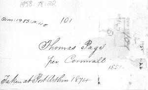 Page, Thomas at QVMAG