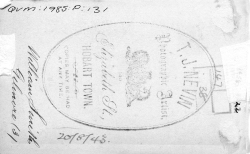 Smith, William per Gilmore (3), verso with Nevin gov't stamp at QVMAG