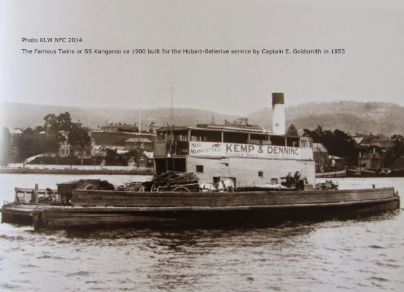 SS ferry Kangaroo built by Captain Edward Goldsmith 1854