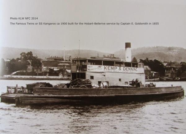 "Vehicular ferry ""SS Kangaroo"" built by Captain Edward Goldsmith 1854"