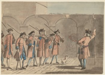 Chelsea pensioners 1785 satirical, Courtesy Brown University Archive