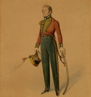 Captain Weatherall, the 1st or Royal Scots Regiment of Foot 1818 by Heath, William