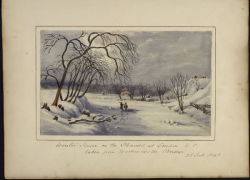 Winter scene on the Thames River at London, Canada West, taken from Westminster Bridge. 5 March 1843