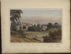 London, Canada West, from the bush road to Hall's Mills 4 September 1842