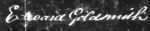 Cpt Goldsmith signature 1841