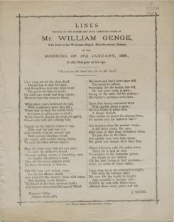 John Nevin on the death of William Genge