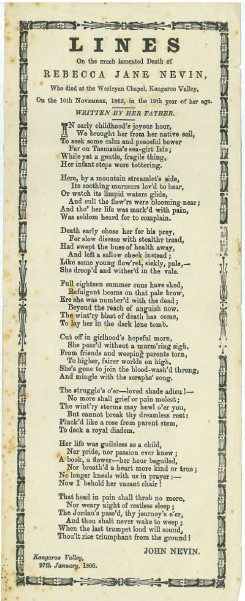 On the death of daughter Rebecca 1866