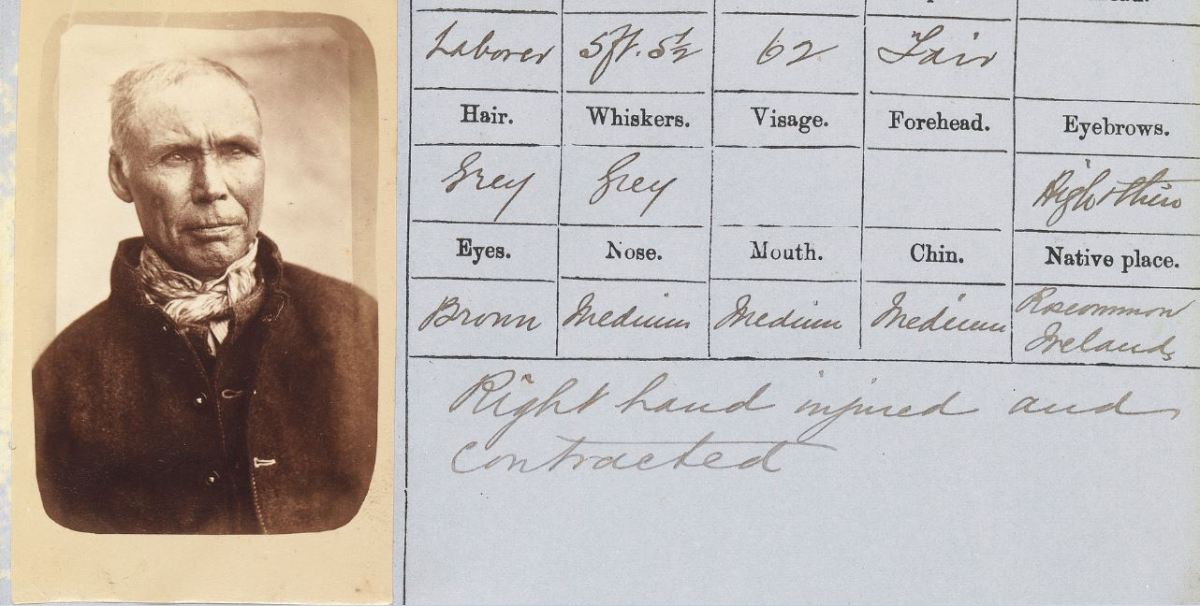 Two mugshots of Hugh COHEN or Cowen/Cowan 1878
