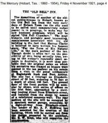 Marcus Clarke Old Bell Inn Nov 4 1921 Mercury