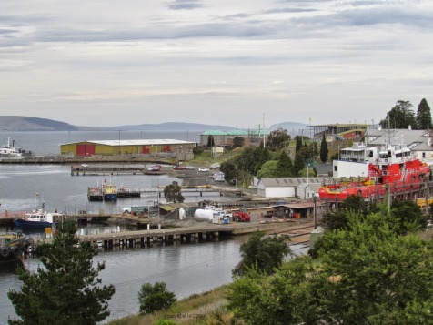 Tasmanian Ports slip yard, from Hobart Domain