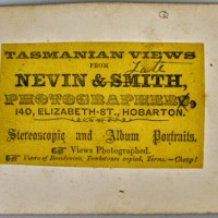 The firm of Nevin & Smith stamps and label 1867-1868