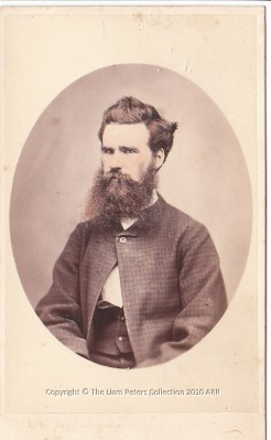 Young man in check jacket, Nevin & Smith, Hobart 1868