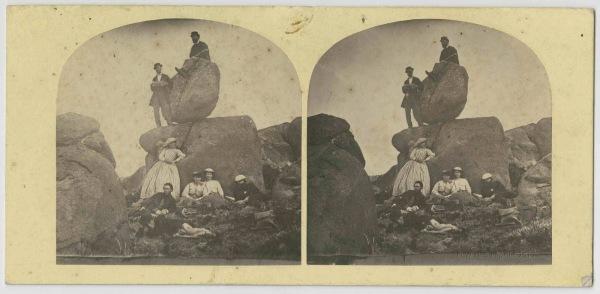 Group at the Rocking Stone, kunanyi/Mt Wellington