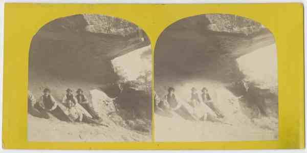Group of surveyors at the Salt Rock caves, Huon, Tasmania