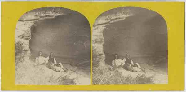 At the Salt Rock Caves, Huon, Tasmania