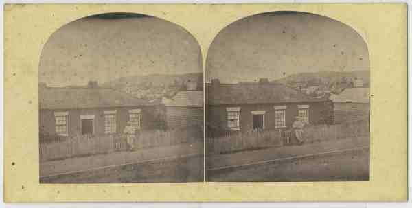 Duncan Chisholm outside his house, Brisbane St. Hobart ca. 1870
