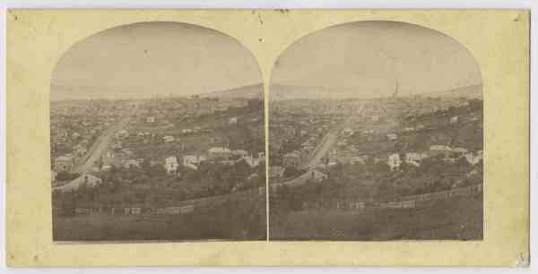 Hobart from Lime Kiln Hill, 1870s