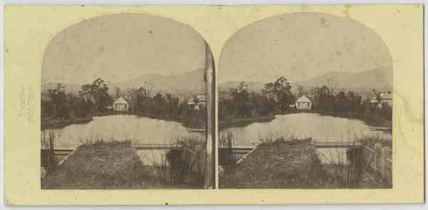 At the Salmon Ponds, Tasmania 1870 ca