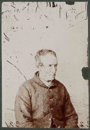 Prisoner Peter Killeen, photo by T. J. Nevin Original print from the negative taken by T. J. Nevin 1870s Exhibited by J. W. Beattie ca. 1915 QVMAG Collection: Ref : 1983_p_0163-0176