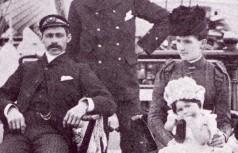 Captain and Mrs Leslie on board the Harriet McGregor 1871
